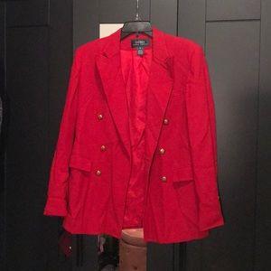 RALPH LAUREN Red Blazer Jacket- Size 6
